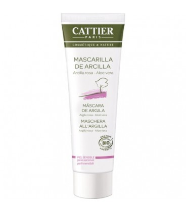 Cattier Mascarilla de arcilla rosa Piel sensible 100 ml
