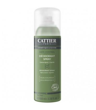 Cattier desodorante en spray ecológico HOMBRE