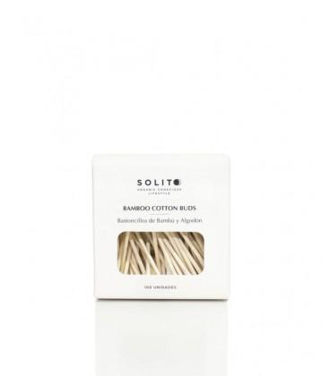 Solito Bastoncillos De Bambú y Algodón Orgánico 100 Unidades