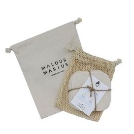 Malou & Marius Kit 5 Lingettes Démaquillantes Cotton Biologique