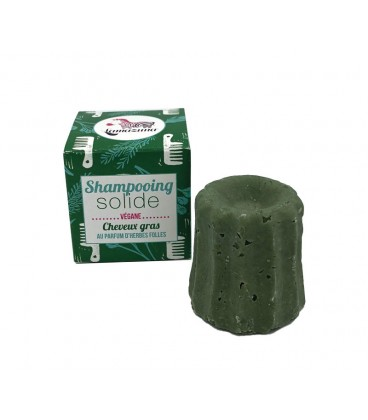 Lamazuna Champú Sólido Cabello Graso Herbal Vegano 55gr