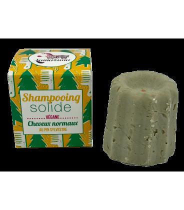 Lamazuna Champú Sólido Cabello Normal Pino Silvestre Vegano 55g