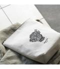 Meraki Toilet Bag Doddy White And Black( 21x20cm)