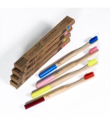 Vamboo Ecocare Cepillo de Dientes de Bambú Duro Rojo