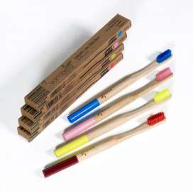 Vambóo Ecocare Cepillo de Dientes de Bambú Medio Rosa