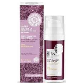 Natura Sibérica Crema De Noche Reparadora,Regeneración Profunda 50 ml( Linea Rosa)