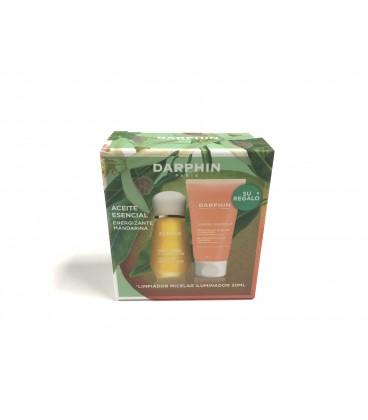 Set aceite esencial energizante de mandarina regalo limpiador micelar iluminador