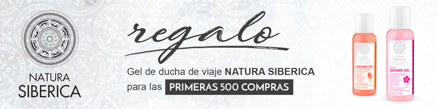 NATURA SIBERICA SHOWER GEL para las primeras 500 compras.